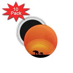 Elephant Baby Elephant Wildlife 1 75  Magnets (10 Pack)