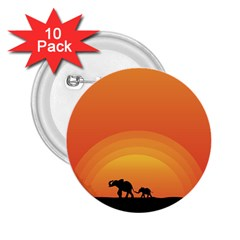 Elephant Baby Elephant Wildlife 2.25  Buttons (10 pack)
