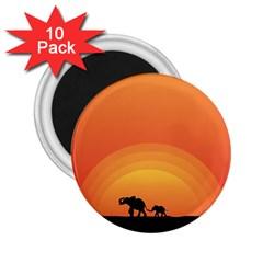 Elephant Baby Elephant Wildlife 2 25  Magnets (10 Pack)