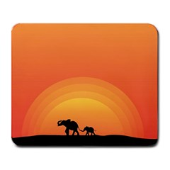 Elephant Baby Elephant Wildlife Large Mousepads
