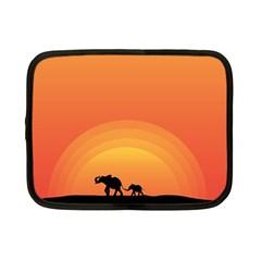 Elephant Baby Elephant Wildlife Netbook Case (small)