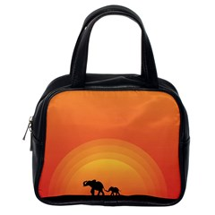 Elephant Baby Elephant Wildlife Classic Handbags (one Side)
