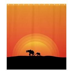 Elephant Baby Elephant Wildlife Shower Curtain 66  X 72  (large)