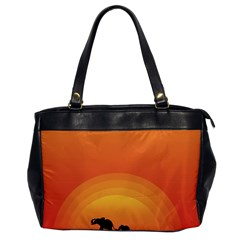 Elephant Baby Elephant Wildlife Office Handbags