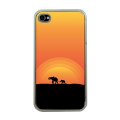 Elephant Baby Elephant Wildlife Apple Iphone 4 Case (clear)