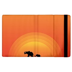 Elephant Baby Elephant Wildlife Apple iPad 3/4 Flip Case