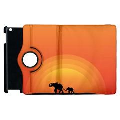 Elephant Baby Elephant Wildlife Apple Ipad 3/4 Flip 360 Case