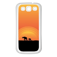 Elephant Baby Elephant Wildlife Samsung Galaxy S3 Back Case (white)