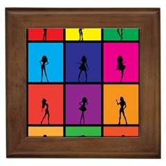 Girls Fashion Fashion Girl Young Framed Tiles