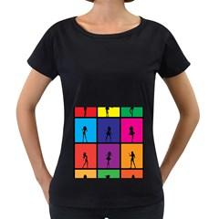Girls Fashion Fashion Girl Young Women s Loose Fit T Shirt (black)