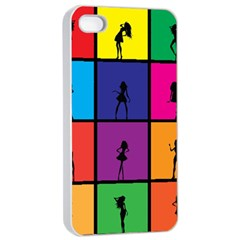 Girls Fashion Fashion Girl Young Apple Iphone 4/4s Seamless Case (white)