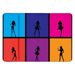 Girls Fashion Fashion Girl Young Samsung Galaxy Tab 8 9  P7300 Flip Case