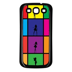 Girls Fashion Fashion Girl Young Samsung Galaxy S3 Back Case (black)
