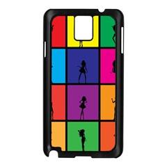 Girls Fashion Fashion Girl Young Samsung Galaxy Note 3 N9005 Case (Black)