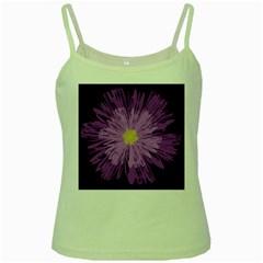 Purple Flower Floral Purple Flowers Green Spaghetti Tank