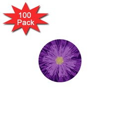 Purple Flower Floral Purple Flowers 1  Mini Buttons (100 Pack)