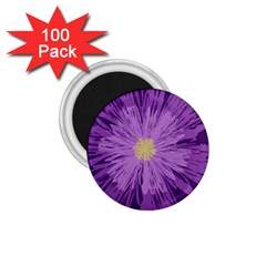 Purple Flower Floral Purple Flowers 1.75  Magnets (100 pack)