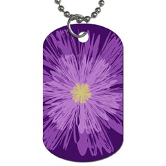 Purple Flower Floral Purple Flowers Dog Tag (One Side)
