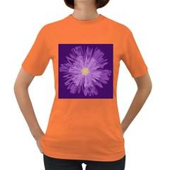 Purple Flower Floral Purple Flowers Women s Dark T Shirt