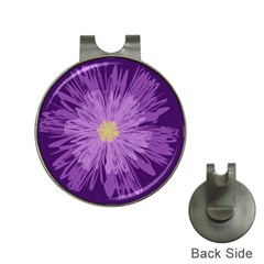 Purple Flower Floral Purple Flowers Hat Clips With Golf Markers