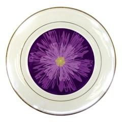 Purple Flower Floral Purple Flowers Porcelain Plates