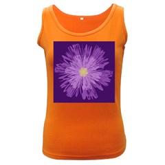Purple Flower Floral Purple Flowers Women s Dark Tank Top