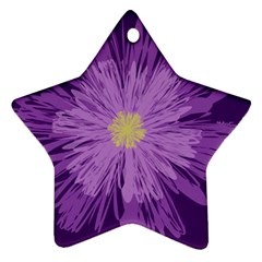Purple Flower Floral Purple Flowers Star Ornament (two Sides)