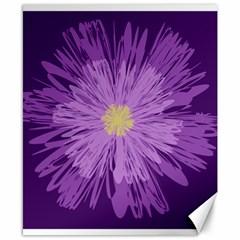Purple Flower Floral Purple Flowers Canvas 8  X 10