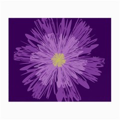 Purple Flower Floral Purple Flowers Small Glasses Cloth (2 Side)