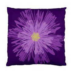 Purple Flower Floral Purple Flowers Standard Cushion Case (Two Sides)