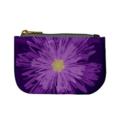 Purple Flower Floral Purple Flowers Mini Coin Purses