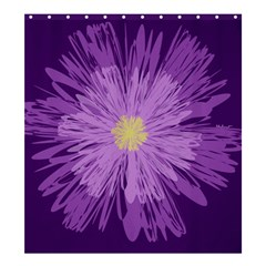Purple Flower Floral Purple Flowers Shower Curtain 66  X 72  (large)