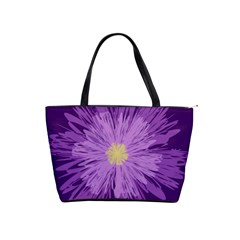 Purple Flower Floral Purple Flowers Shoulder Handbags