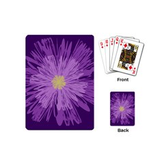 Purple Flower Floral Purple Flowers Playing Cards (Mini)