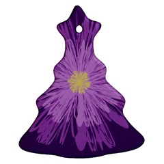Purple Flower Floral Purple Flowers Christmas Tree Ornament (Two Sides)