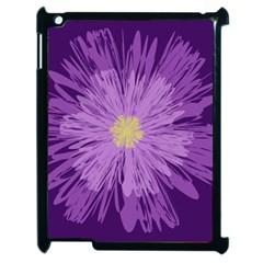 Purple Flower Floral Purple Flowers Apple Ipad 2 Case (black)
