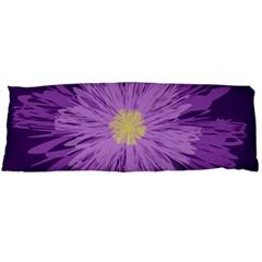Purple Flower Floral Purple Flowers Body Pillow Case Dakimakura (two Sides)
