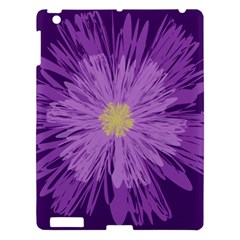 Purple Flower Floral Purple Flowers Apple iPad 3/4 Hardshell Case