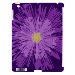 Purple Flower Floral Purple Flowers Apple Ipad 3/4 Hardshell Case (compatible With Smart Cover)