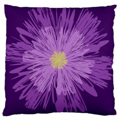 Purple Flower Floral Purple Flowers Large Cushion Case (One Side)