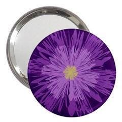 Purple Flower Floral Purple Flowers 3  Handbag Mirrors