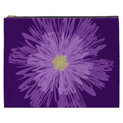Purple Flower Floral Purple Flowers Cosmetic Bag (xxxl)