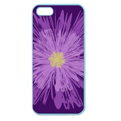 Purple Flower Floral Purple Flowers Apple Seamless Iphone 5 Case (color)