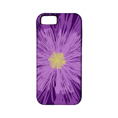 Purple Flower Floral Purple Flowers Apple iPhone 5 Classic Hardshell Case (PC+Silicone)