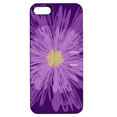 Purple Flower Floral Purple Flowers Apple Iphone 5 Hardshell Case With Stand