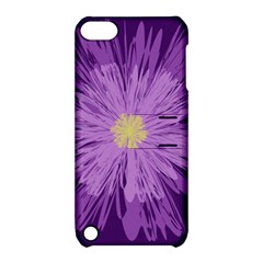 Purple Flower Floral Purple Flowers Apple iPod Touch 5 Hardshell Case with Stand