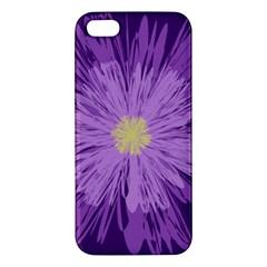 Purple Flower Floral Purple Flowers Apple Iphone 5 Premium Hardshell Case