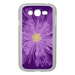 Purple Flower Floral Purple Flowers Samsung Galaxy Grand DUOS I9082 Case (White)