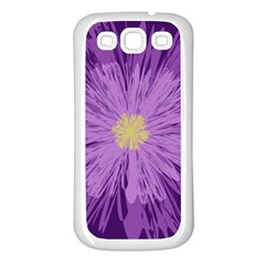 Purple Flower Floral Purple Flowers Samsung Galaxy S3 Back Case (white)