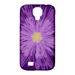 Purple Flower Floral Purple Flowers Samsung Galaxy S4 Classic Hardshell Case (pc+silicone)